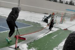 Clearing the QE courts of snow